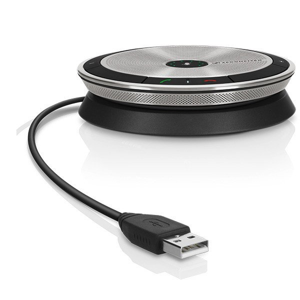 Portable USB Conference Speakerphone for Microsoft Lync