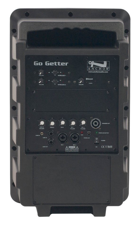 Go Getter Portable PA System with (2) UHF Wireless Receivers and Bluetooth Connectivity