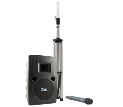 Portable AC Powered PA System with Bluetooth Connectivity, (1) UHF Wireless Receiver and Choice of Wireless Transmitter/Mic