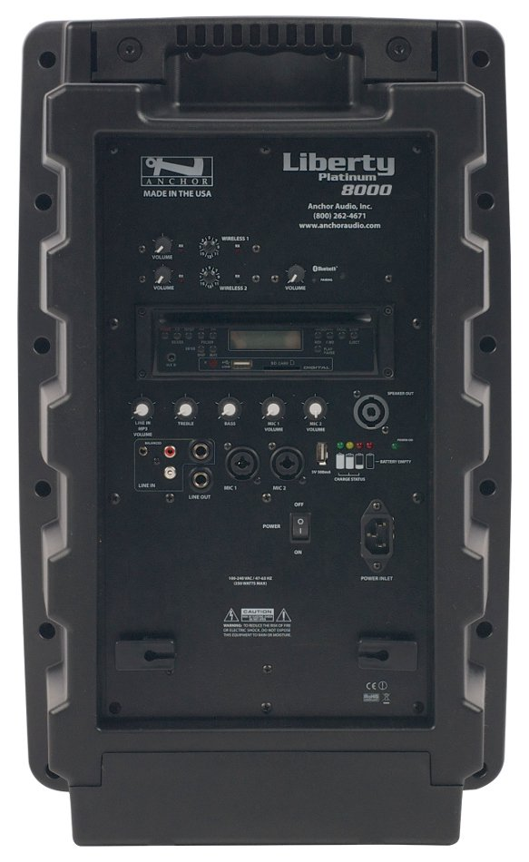 Portable PA System with Bluetooth, CD/MP3 Player, (2) UHF Wireless Receivers, Bodypack Transmitter, UltraLite Microphone and Choice of 2nd Transmitter/Mic