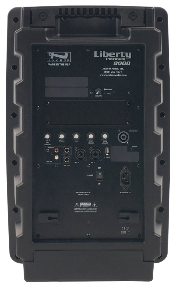 Portable AC Powered PA System with Bluetooth Connectivity