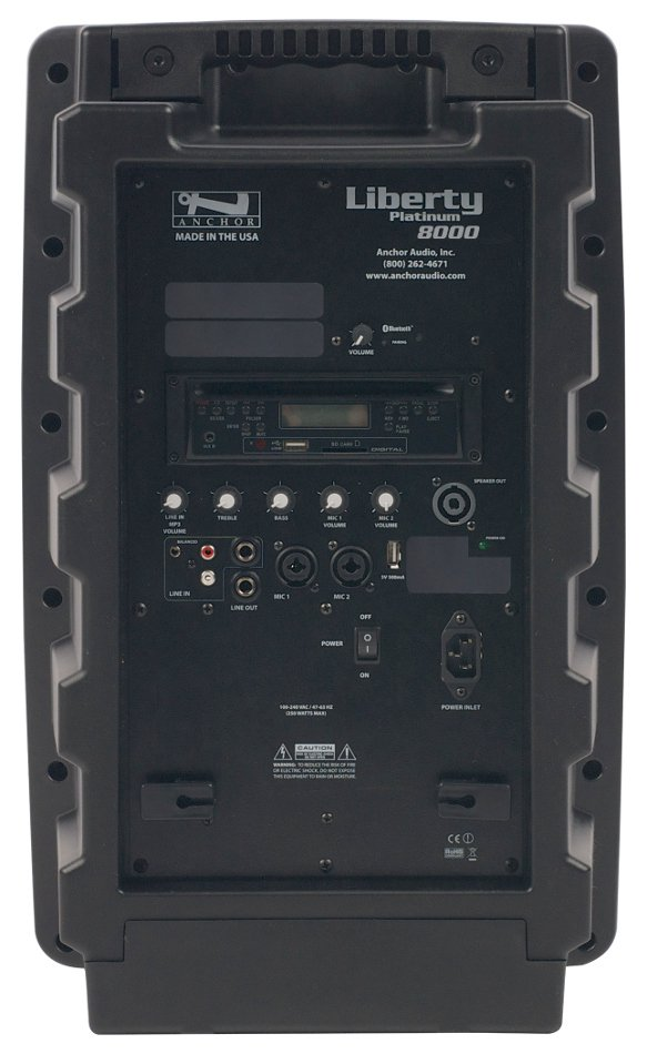 Portable AC Powered PA System with Bluetooth Connectivity and CD/MP3 Combo Player