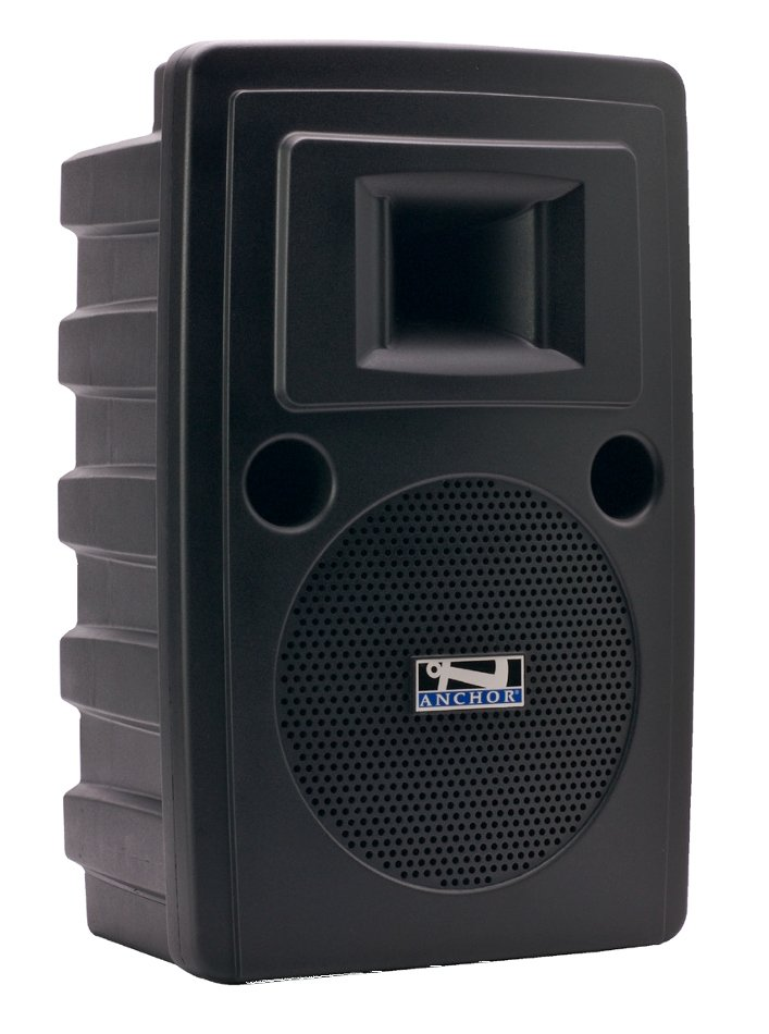 Portable AC Powered PA System with Bluetooth Connectivity, CD/MP3 Combo Player and (1) UHF Wireless Receiver
