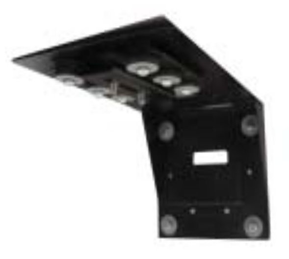 Universal Anti-Vibration Wall Mount in Black