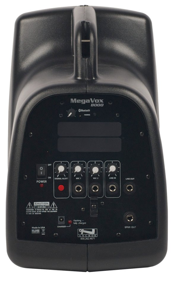 MegaVox Pro Portable PA System with Bluetooth Connectivity