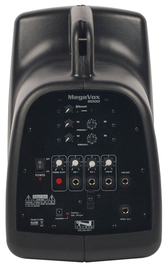 MegaVox Pro Portable PA System with Bluetooth Connectivity and (2) UHF Wireless Recievers