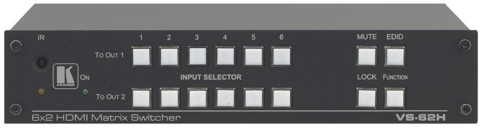 6x2 4K HDMI Matrix Switcher