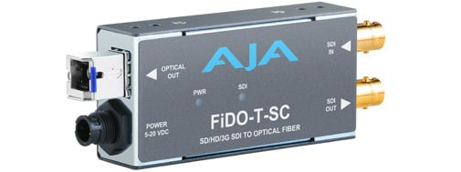 1 Channel SDI to SC Fiber Mini Converter with Looping SDI Out and Power Supply