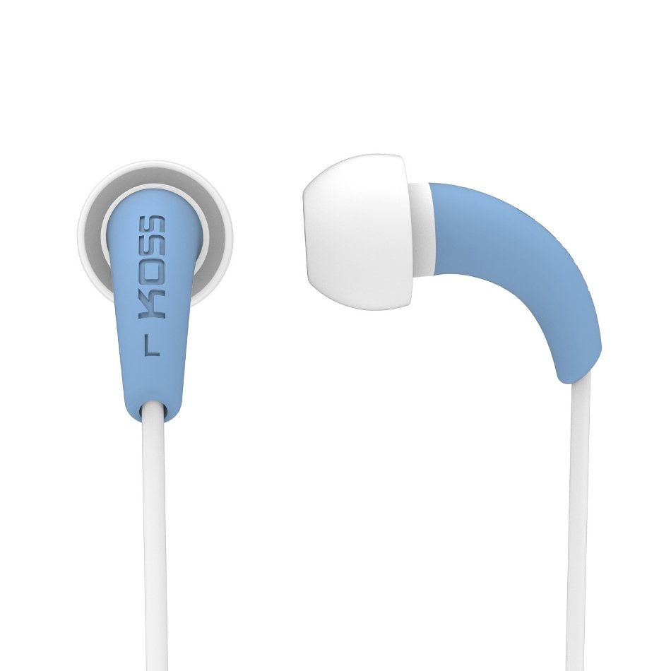 Koss FitBuds Sweat Resistant Compact Earbuds in Blue KEB32B