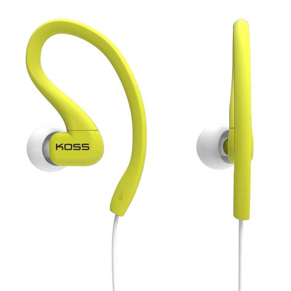 Sweat Resistant Clip-On Earphones in Lime