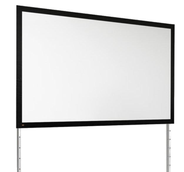 """120"""" NTSC FocalPoint Screen with Silver Frame"""