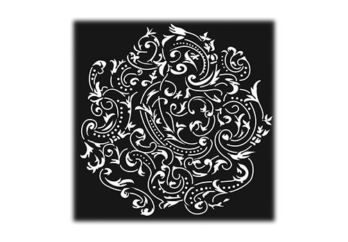 "Steel Gobo in ""Almost Paisley""-Pattern Design"