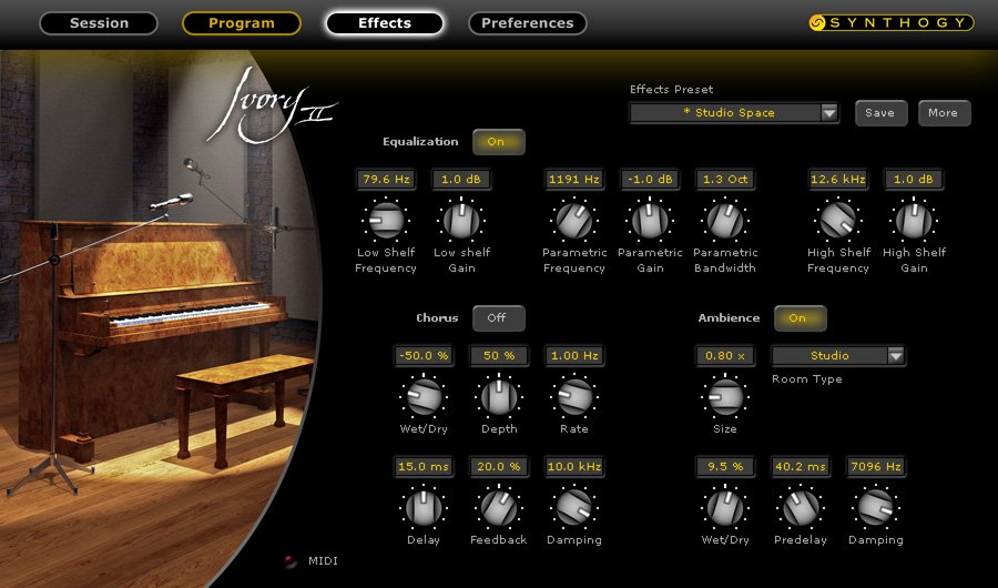 Upright Piano Virtual Instrument Software