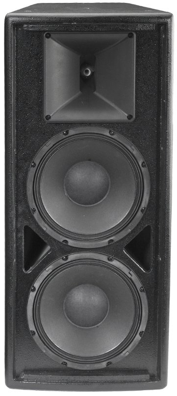 "VERIS 2 Series 2x 8"" Two-Way Full-Range Loudspeaker in Black with Built-In 200W Autoforrmer"