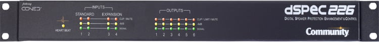 dSPEC Network-Enabled Loudspeaker Management Processor with 4 Analog Inputs & 6 Analog Outputs