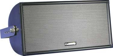 "Quasi 3-Way Full-Range Composite Indoor/Outdoor Speaker with 200W Autoformer for 70V/100V Systems in Black with 8"" Woofer and 200W Autoformer"