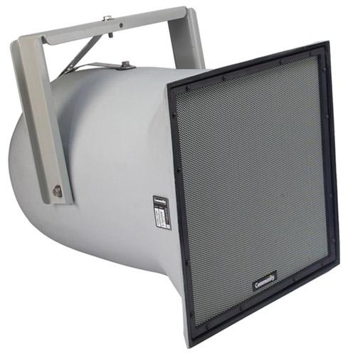 "R Series Dual 12"" 3-Way Weather-Resistant Loudspeaker with 40°-70°x40° Dispersion in Light Grey"
