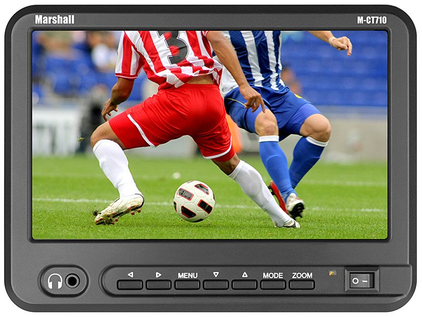 "7"" High Resolution Portable Camera Top Field Monitor with AA Battery Holder"