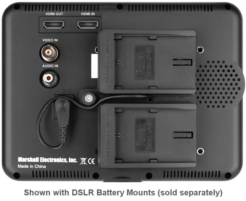 """7"""" High Resolution Portable Camera Top Field Monitor with AA Battery Holder"""