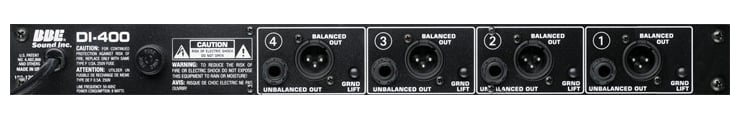 Rackmount 4-Channel DI Box with Onboard Sonic Maximizer on Each Channel