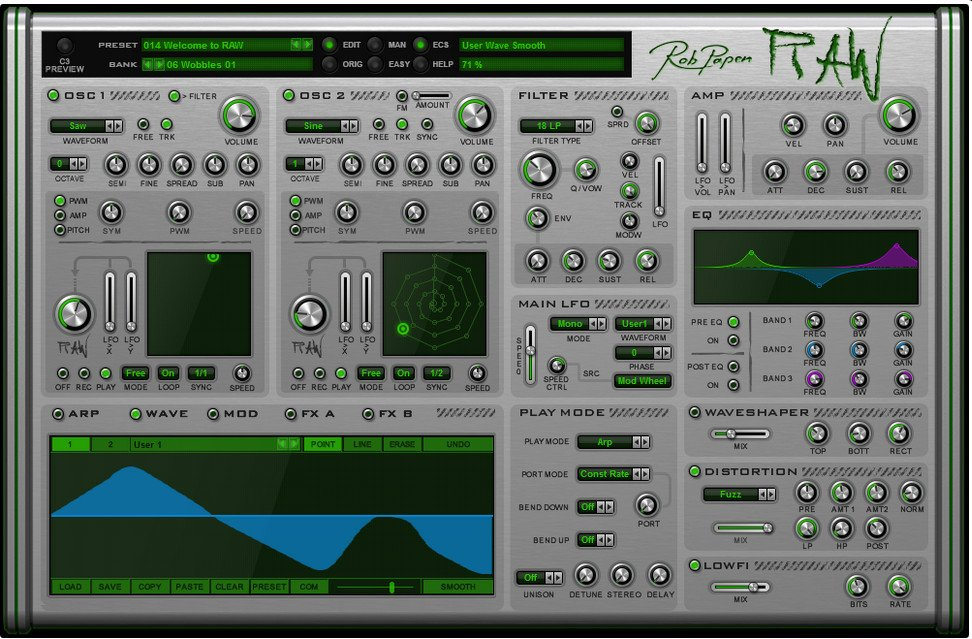 Synthesizer Virtual Instrument Software Plugin