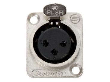 3-Pin Female Panelmount XLR Locking Connector