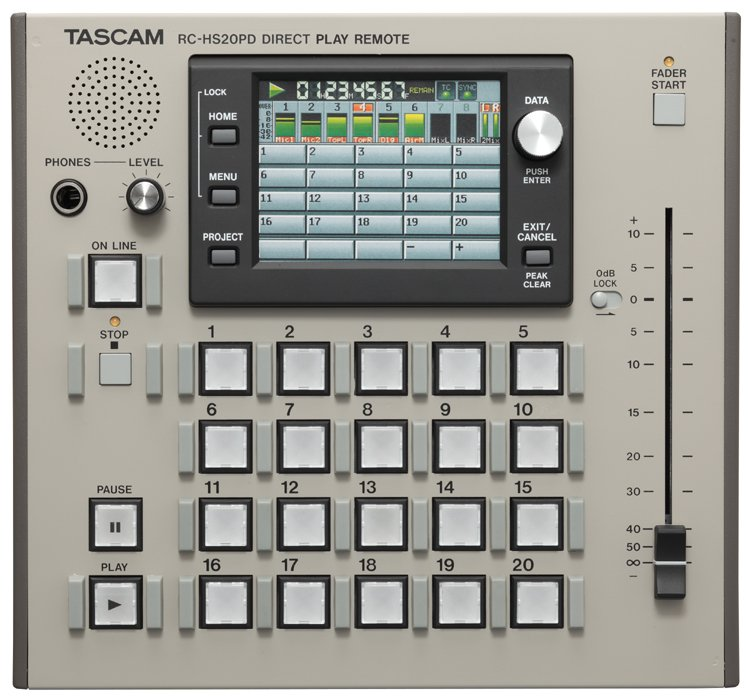 Tascam RC-HS20PD [RESTOCK ITEM] Remote Control for HS-8 & HS-2 Recorders RC-HS20PD-RST-01