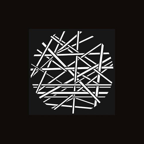 """Steel Gobo with """"Criss-Crossed Line""""-Pattern Design"""