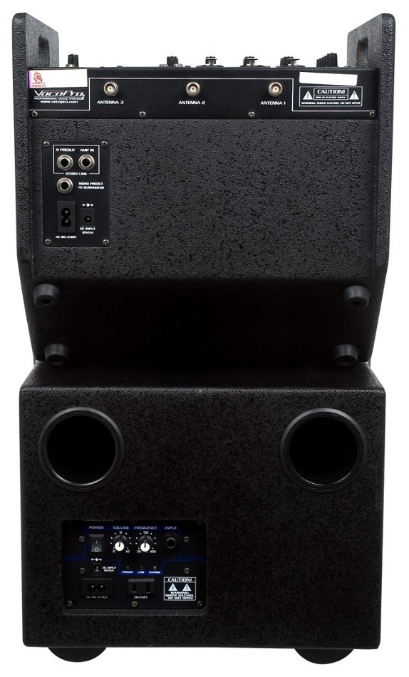 80 Watt Portable Battery Powered PA System with SD Card Player and Subwoofer