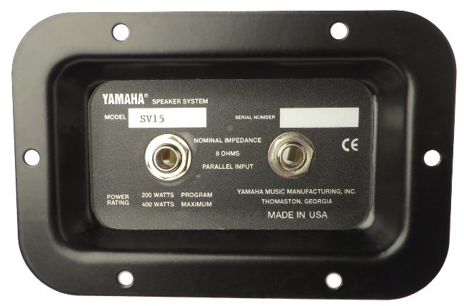 Yamaha NBY06240 Input Panel Assembly for SV12 NBY06240