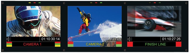 "Triple 6.5"" HD/SD LCD Rack Mounted Monitor Set"