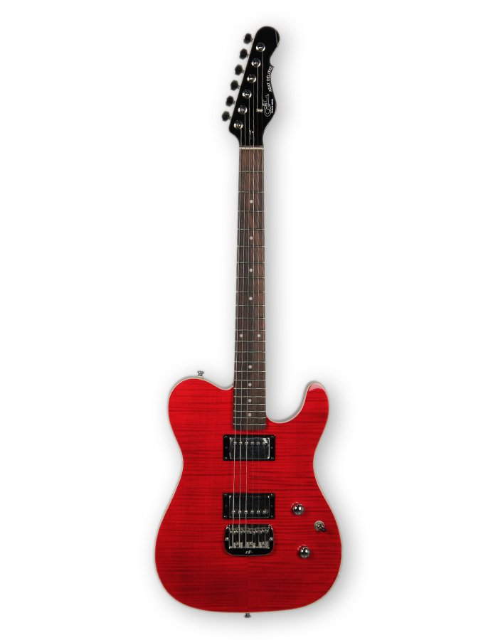 G&L Guitars ASAT Deluxe Carved Top Trans Red Tribute Series Electric Guitar ASAT-DELUXE-TRD