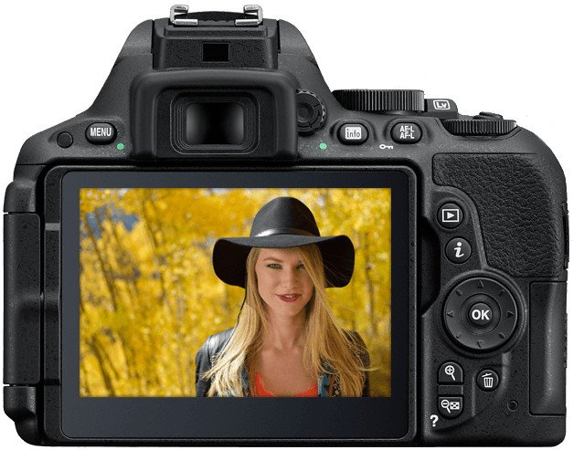24.2MP D5500 DSLR Camera Body with Touchscreen Display in Black