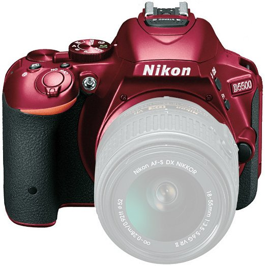 Nikon 1545 24.2MP D5500 DSLR Camera Body with Touchscreen Display in Red 1545