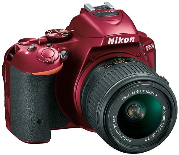 24.2MP D5500 DSLR Camera in Red with NIKKOR 18-140mm VR Lens