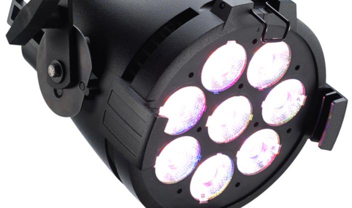 8xRGB-L ColorSource PAR with Edison Connector in Black