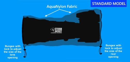 Medium Standard Model Storm Jacket Cover in Black