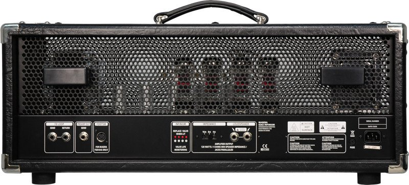120W 2-Channel Tube Guitar Amplifier Head with Reverb