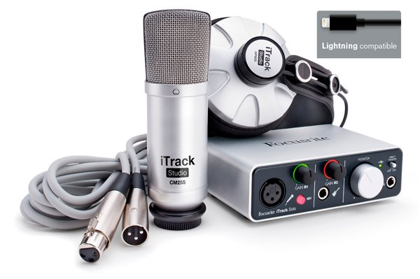 iPad/Mac/Windows Recording Package with iTrack Solo Audio Interface, CM25S Condenser Microphone, HP60S Headphones, Software & Cables