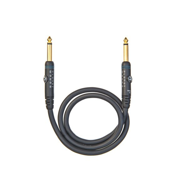 "6"" Custom Series Patch Cable with Dual 1/4"" Right Angle Connectors, 2-Pack"