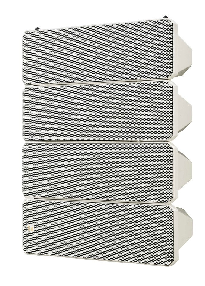 "750W Weatherproof Line Array Speaker System in White with (10) 5"" Woofers and (4) 1"" Tweeters"