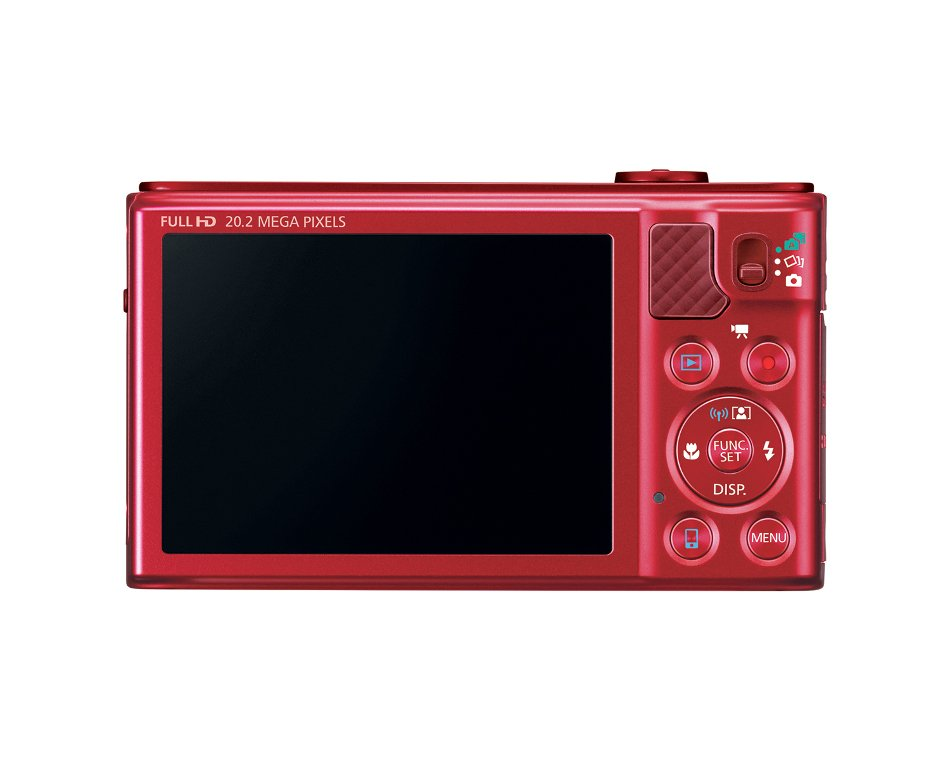 "20.2MP Digital Camera with 18x Optical Zoom and 3"" LCD Screen, in Red"