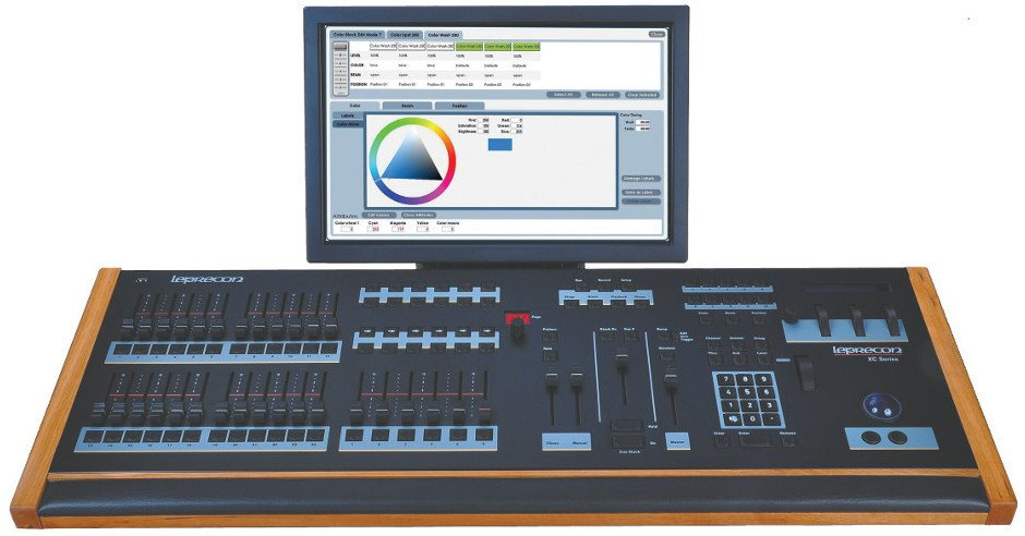 6 Playback, 24-Fader Lighting Console with Touch-Screen Monitor