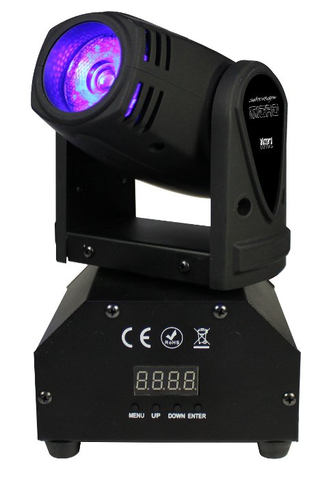 1x15W Quad Color CREE LED Mini Moving Head Fixture