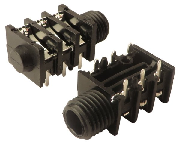 "1/4"" 6-Pin Stereo Input Jack (2-Pack)"
