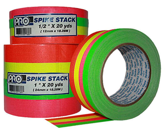 """1/2"""" Wide Fluorescent Spike Tape Combo Pack"""