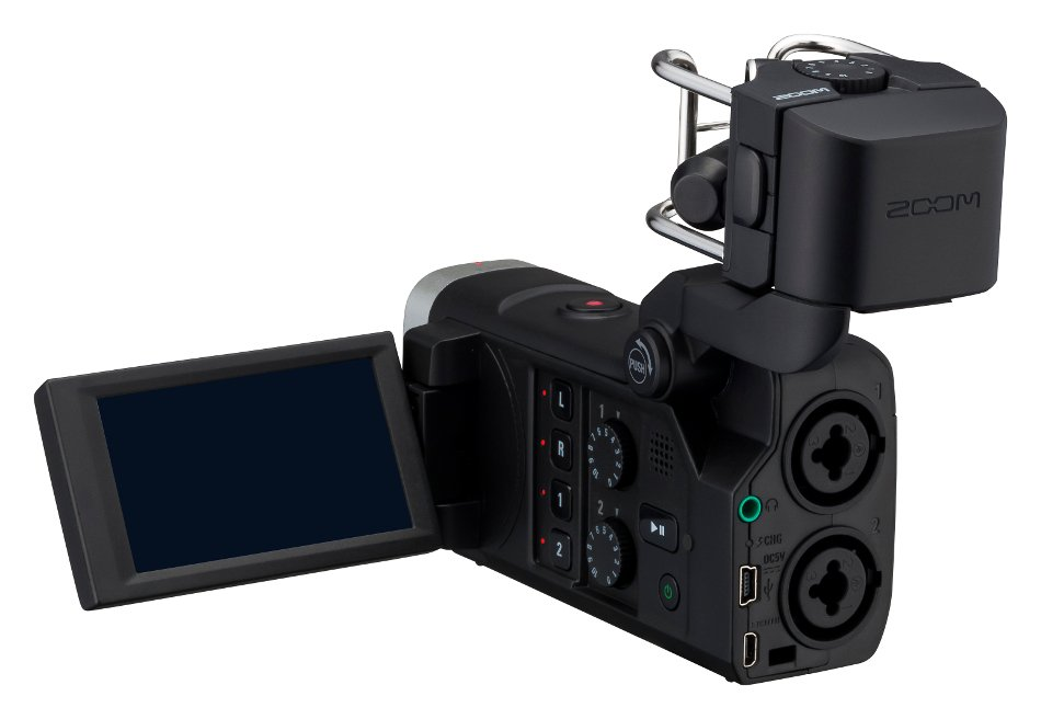 Handheld HD Video / 4-Track Audio Recorder with Interchangeable Microphone Capsule System