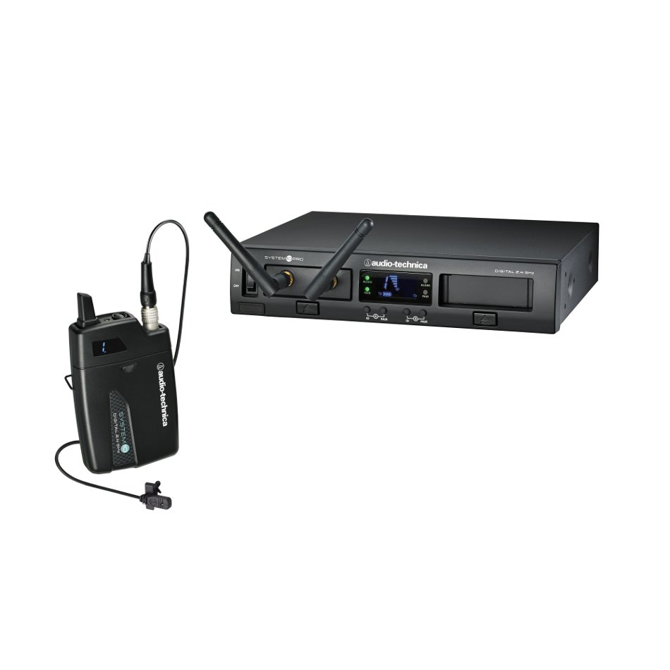 Audio-Technica ATW-1301/L System 10 PRO Rackmount Digital Wireless Lavalier System with ATW-T1001 Bodypack Transmitter and MT830cW Lavalier Microphone ATW-1301/L