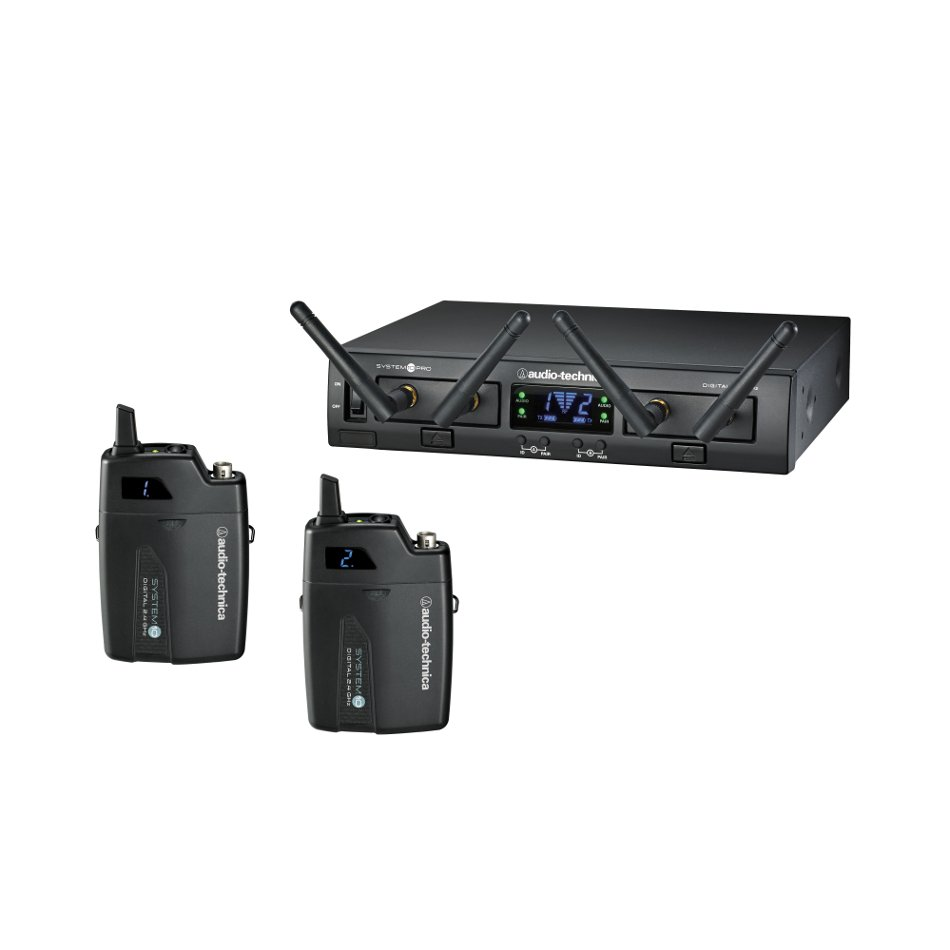 System 10 PRO Rackmount Dual-Channel Digital Wireless Bodypack System with (2) ATW-T1001 Bodypack Transmitters