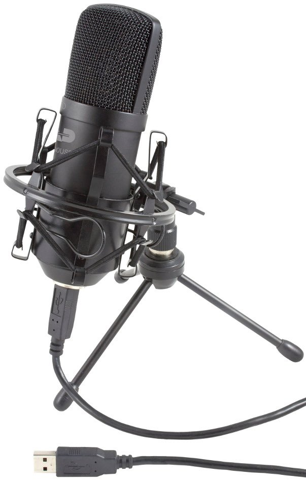 Large Diaphragm Studio Condenser Recording Microphone with Tripod and USB Cable